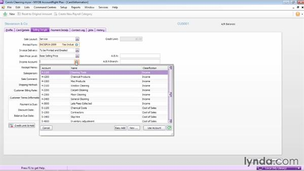 Adding customer cards: MYOB AccountRight 2013 Essential Training