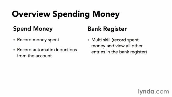 Various ways of spending money: MYOB AccountRight 2013 Essential Training