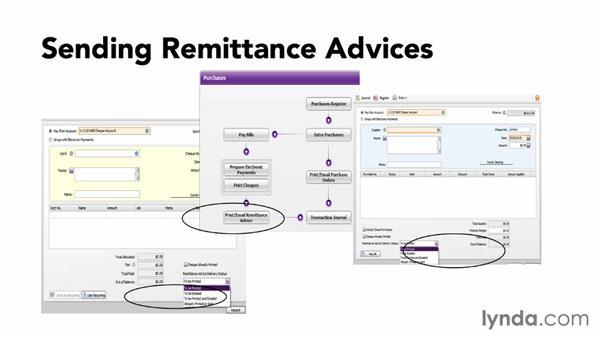 Sending remittance advices: MYOB AccountRight 2013 Essential Training
