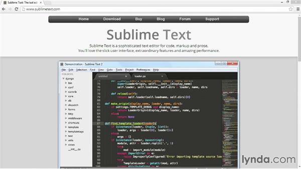 Downloading Sublime Text 2: Up and Running with Foundation 5