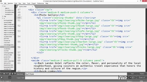 Creating a responsive lightbox with Clearing: Up and Running with Foundation 5