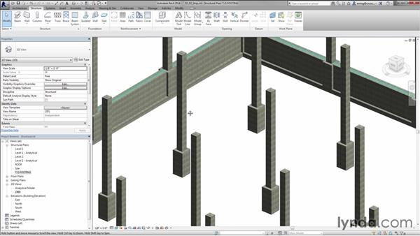 Adding strip footings: Creating Concrete Buildings with Revit Structure