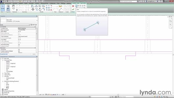 Creating step footings: Creating Concrete Buildings with Revit Structure