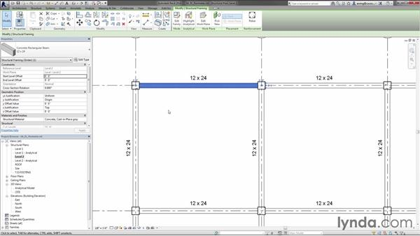 Creating perimeter framing: Creating Concrete Buildings with Revit Structure