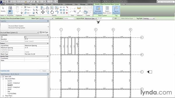 Adding pan joists and beam systems: Creating Concrete Buildings with Revit Structure