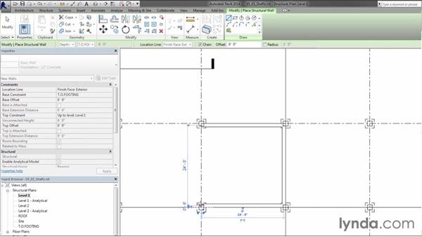 Creating shafts: Creating Concrete Buildings with Revit Structure