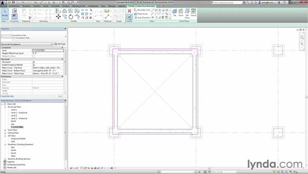 Placing foundation slabs: Creating Concrete Buildings with Revit Structure