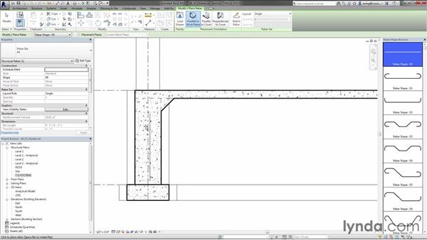 Placing rebar parallel to the face: Creating Concrete Buildings with Revit Structure