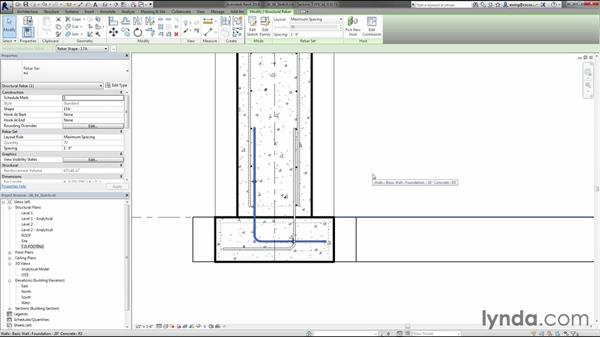 Adding rebar by sketching: Creating Concrete Buildings with Revit Structure