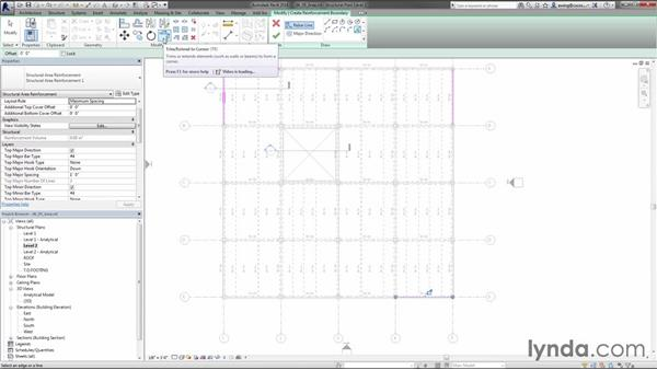 Placing area reinforcing: Creating Concrete Buildings with Revit Structure
