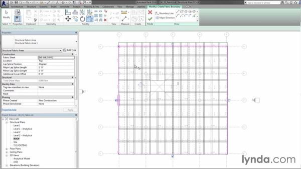 Placing fabric reinforcing: Creating Concrete Buildings with Revit Structure