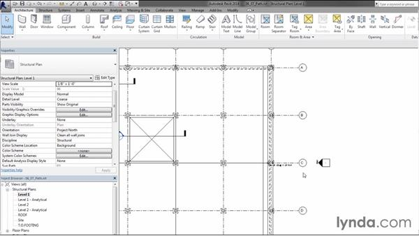 Adding path reinforcing: Creating Concrete Buildings with Revit Structure