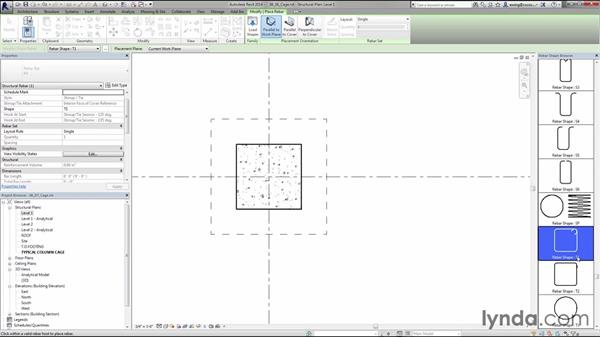 Building rebar cages: Creating Concrete Buildings with Revit Structure