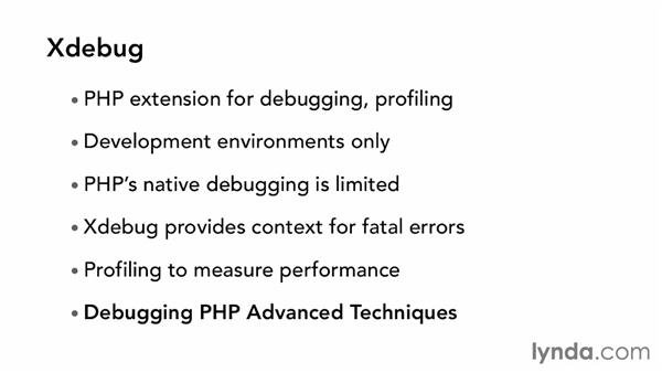 Installing Xdebug for debugging: Up and Running with Linux for PHP Developers