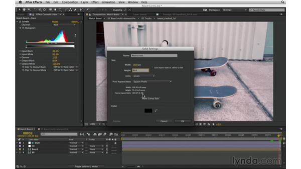 Set guide layers to solve workflow problems: After Effects Compositing 03: Advanced Matching and Looks