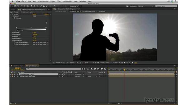 Add a light-wrap effect to composite into a backlit scene: After Effects Compositing 03: Advanced Matching and Looks