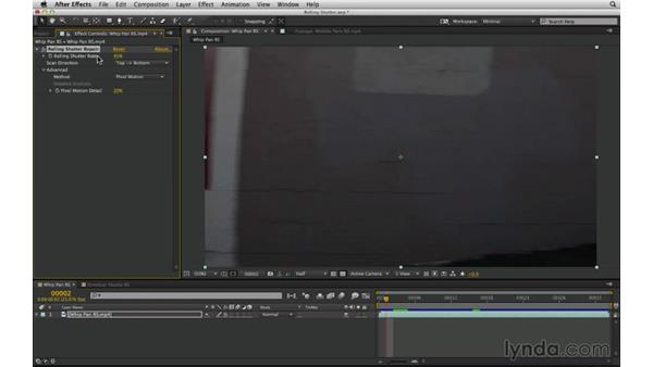 Recognize and fix rolling shutter distortion: After Effects Compositing 03: Advanced Matching and Looks