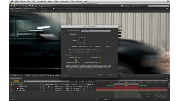Match motion blur: Animated keyframes: After Effects Compositing 03: Advanced Matching and Looks