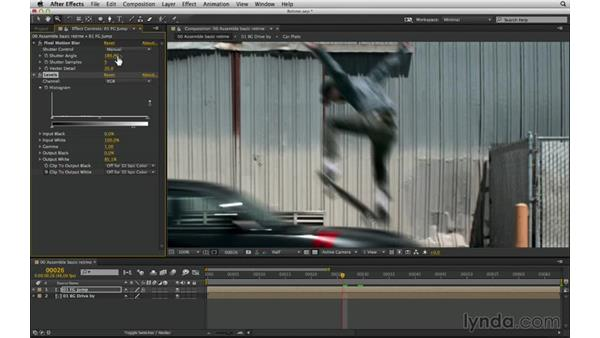 Match motion blur: No keyframes: After Effects Compositing 03: Advanced Matching and Looks
