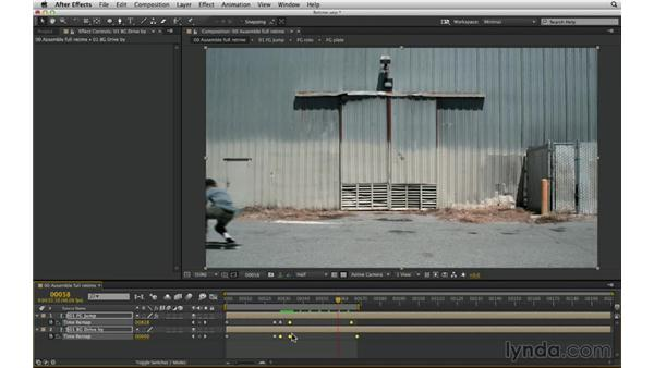 Use Time Remap: After Effects Compositing 03: Advanced Matching and Looks