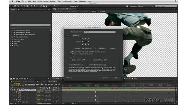 Fix sloppy precomps with the Preserve frame rate when nested option: After Effects Compositing 03: Advanced Matching and Looks