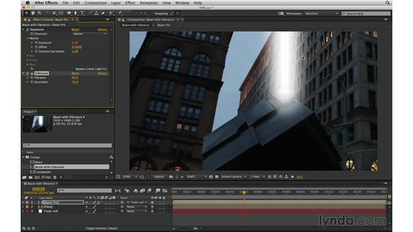 Be deliberate when establishing and breaking the 32-bit-per-channel pipeline: After Effects Compositing 03: Advanced Matching and Looks