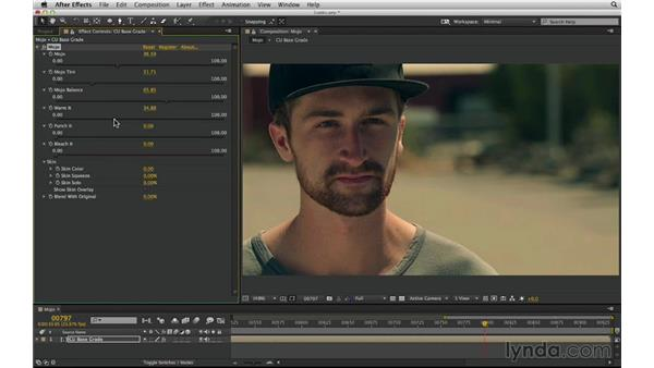 Create cinematic color contrasts with Mojo: After Effects Compositing 03: Advanced Matching and Looks