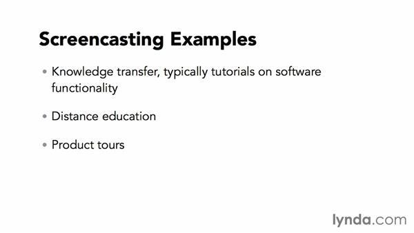 Screencasting examples: Screencasting Fundamentals