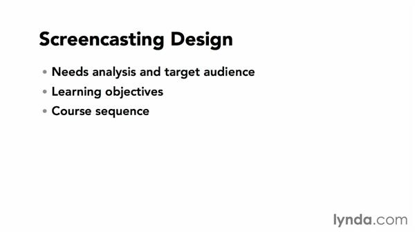 Screencasting design considerations: Screencasting Fundamentals
