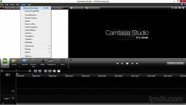 Exploring the Camtasia user interface: Screencasting Fundamentals