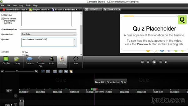 Creating interactive quizzes: Screencasting Fundamentals