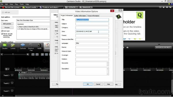 Producing and sharing your project: Screencasting Fundamentals