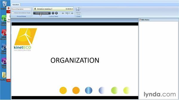 Adding narration to a project: Screencasting Fundamentals