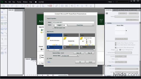 Starting a new project from PowerPoint: Screencasting Fundamentals