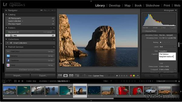 Adding image info: Lightroom 5: 06 Creating Web Galleries