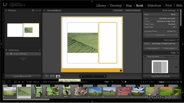 Book viewing options: Lightroom 5: 07 Making Photo Books