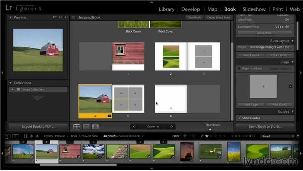 Modifying a book layout: Lightroom 5: 07 Making Photo Books