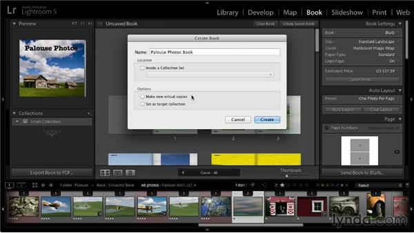 Saving the book project: Lightroom 5: 07 Making Photo Books
