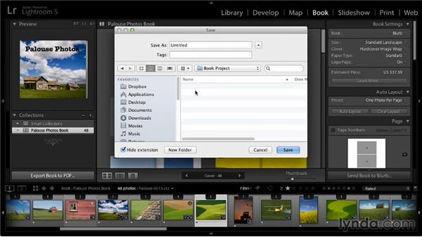 Creating a PDF: Lightroom 5: 07 Making Photo Books