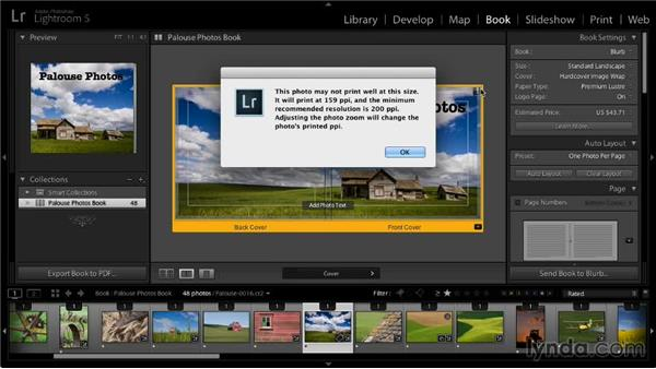 Ordering a Blurb book: Lightroom 5: 07 Making Photo Books