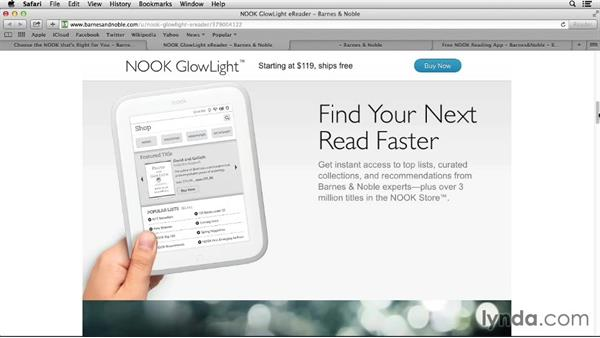 Choosing a NOOK device: Up and Running with NOOK