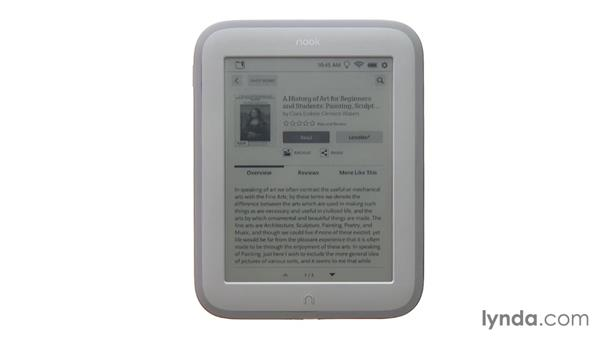 Browsing the NOOK store on a NOOK device: Up and Running with NOOK