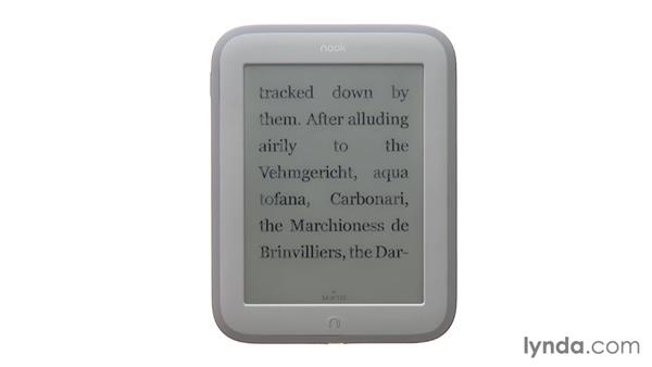Reading books and navigating your library: Up and Running with NOOK