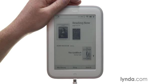 Copying PDF files and free books to the NOOK: Up and Running with NOOK