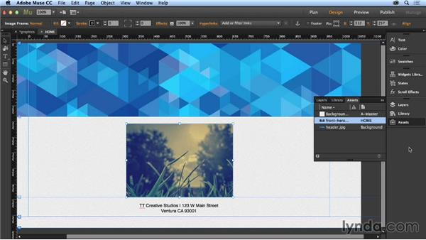 Importing and transforming graphics: Up and Running with Muse
