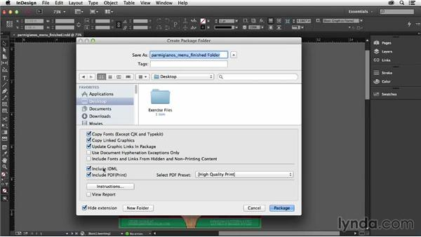 Exploring the enhanced packaging workflow: InDesign: 2014 Creative Cloud Updates