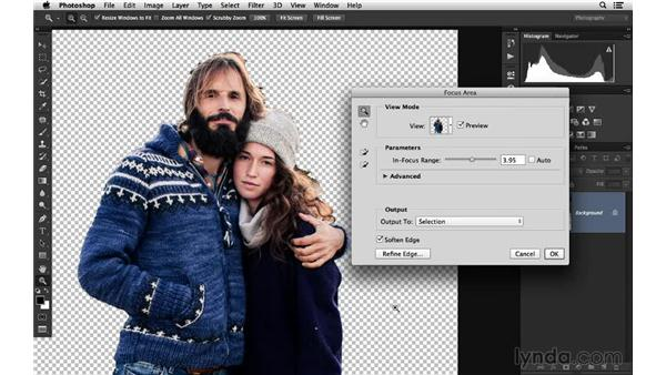Using Focus Area for accurate sharpening: Photoshop for Photographers: 2014 Creative Cloud Updates