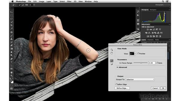 Making creative corrections with Focus Area: Photoshop for Photographers: 2014 Creative Cloud Updates