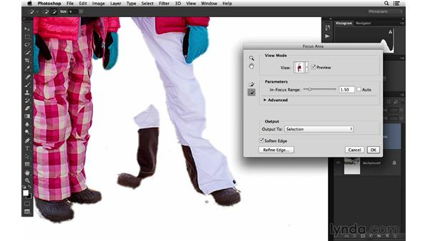 Using Focus Area to extract a subject: Photoshop for Photographers: 2014 Creative Cloud Updates