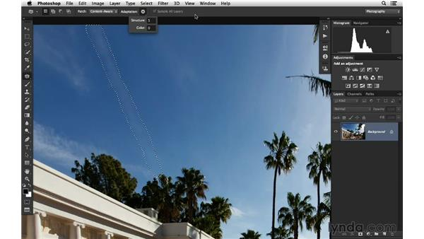 Fixing the sky with the Patch tool: Photoshop for Photographers: 2014 Creative Cloud Updates